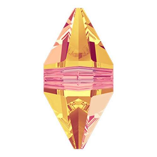 5747 - 16mm x 8mm - Crystal Astral Pink (001 API) - Double Spike Crystal Bead