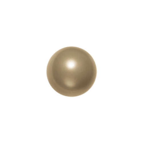 5810 - 10mm - Crystal Antique Brass Pearl (001 402) - Round Crystal Pearls