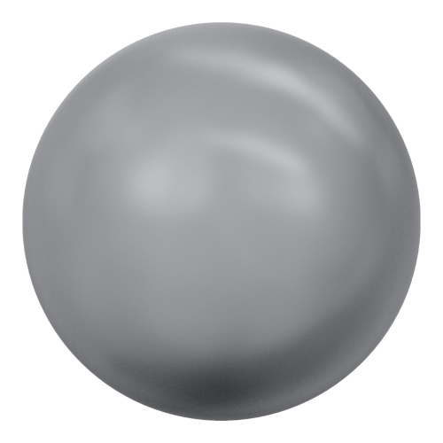 5811 - 12mm - Crystal Grey Pearl (001 731) - Round (Large Hole) Crystal Pearl