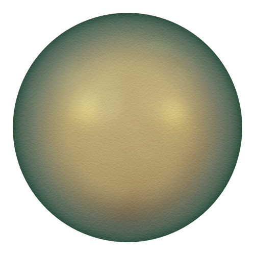 5811 - 12mm - Crystal Iridescent Green Pearl (001 930) - Round (Large Hole) Crystal Pearl