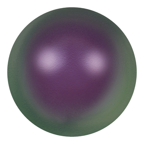 5811 - 12mm - Crystal Iridescent Purple Pearl (001 943) - Round (Large Hole) Crystal Pearl