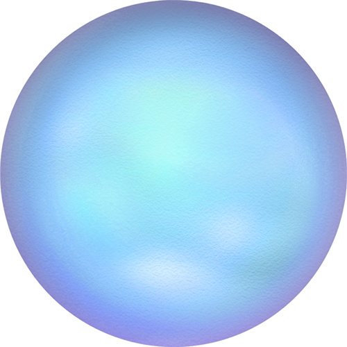 5860 - 10mm - Crystal Iridescent Light Blue Pearl (001 948)  - Coin Crystal Pearl