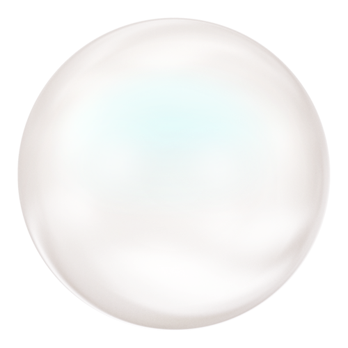 5860 - 10mm - Crystal Pearlescent White Pearl (001 969) - Coin Crystal Pearl
