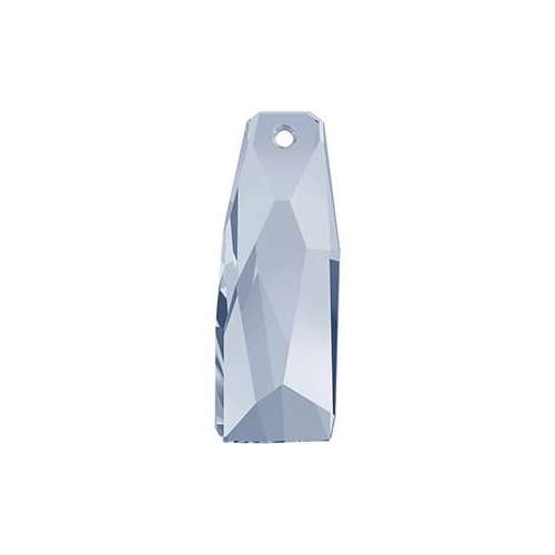 6019/G - 35mm - Crystal Blue Shade (001 BLSV) - Petite Crystalactite (Partly Frosted) Crystal Pendant