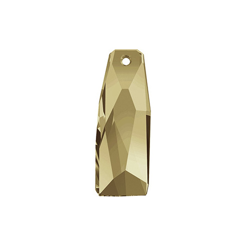 6019/G - 35mm - Crystal Golden Shadow (001 GSHAV) - Petite Crystalactite (Partly Frosted) Crystal Pendant