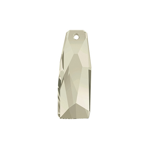 6019/G - 35mm - Crystal Silver Shade (001 SSHAV) - Petite Crystalactite (Partly Frosted) Crystal Pendant
