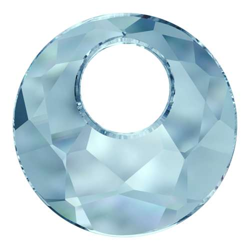 6041 - 28mm - Aquamarine (202) - Victory Crystal Pendant