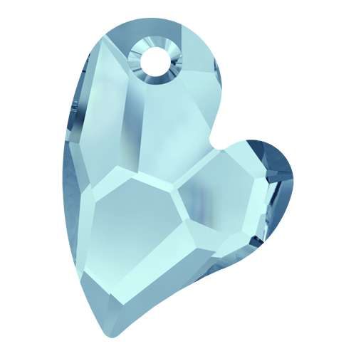 6261 - 17mm - Aquamarine (202) - Devoted 2 U Heart - Designer Edition