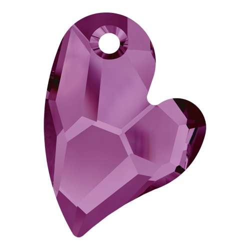 6261 - 17mm - Amethyst (204) - Devoted 2 U Heart - Designer Edition
