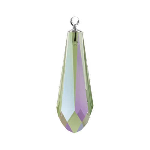 6532 - 21mm - Crystal Paradise Shine RHOD (001 PARSH) - Pure Drop Crystal Pendant with Trumpet Cap