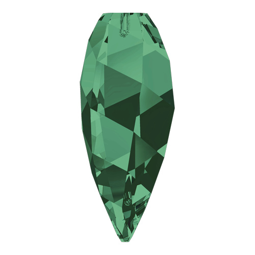 6540 - 12mm - Emerald (205) - Twisted Drop Crystal Pendant
