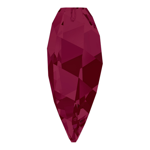 6540 - 12mm - Ruby (501) - Twisted Drop Crystal Pendant