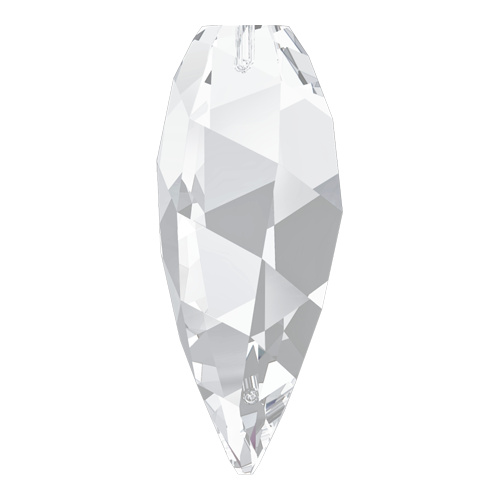 6540 - 30mm - Crystal (001) - Twisted Drop Crystal Pendant
