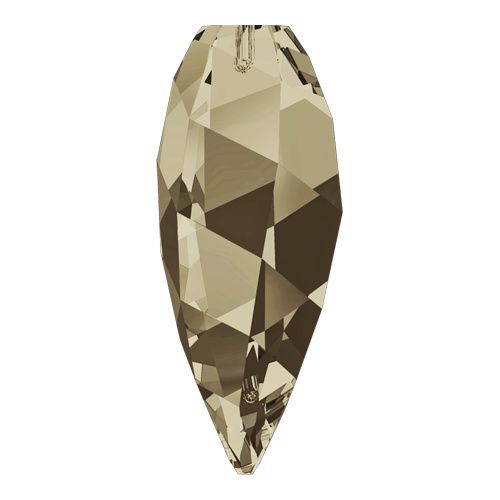 6540 - 30mm - Smoky Quartz (225) - Twisted Drop Crystal Pendant