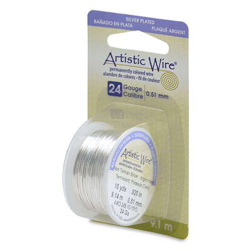24 Gauge (.51mm) 10 yd (9.1 m) - Silver Plated, Tarnish Resistant Silver