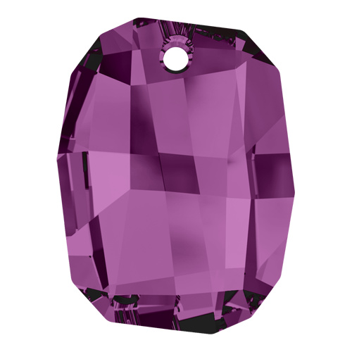 6685 - 28mm - Amethyst (204) - Graphic Crystal Pendant