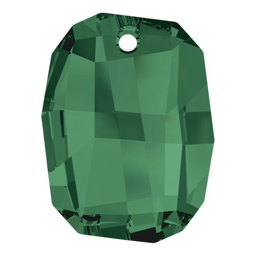 6685 - 28mm - Emerald (205) - Graphic Crystal Pendant