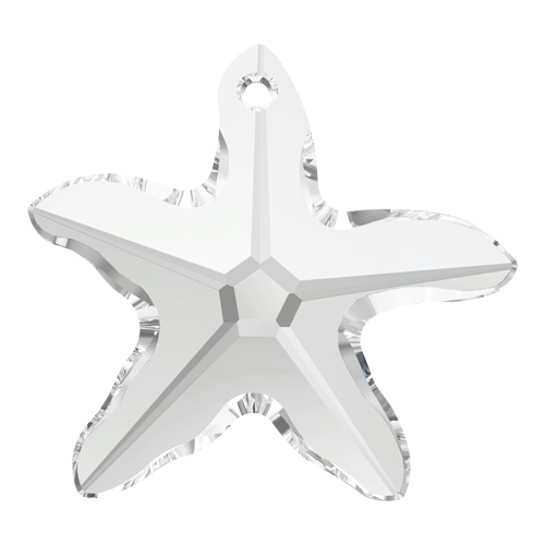 6721 - 40mm - Crystal (001) - Star Fish Crystal Pendant