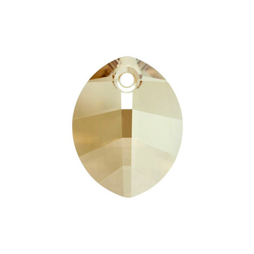 6734 - 23mm - Crystal Golden Shadow (001 GSHA) - Pure Leaf Crystal Pendant