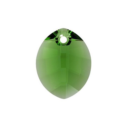 6734 - 23mm - Fern Green (291) - Pure Leaf Crystal Pendant