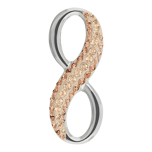 67402 - 20mm - Light Peach (362) - Infinity Pave Pendant