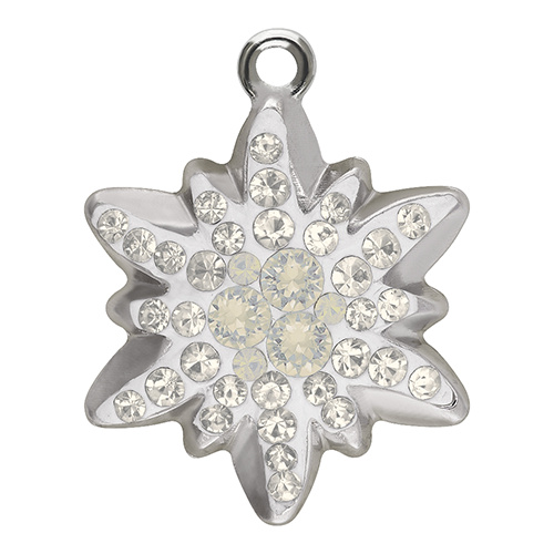 67442 - 20mm - Crystal Moonlight (001 MOL) - Edelweiss Pave Pendant