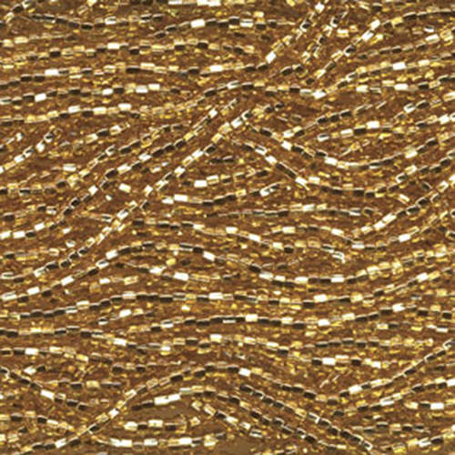 Preciosa 11/0 Gold Silver Lined Seed Beads, 6 strand Hank - SB11-17050