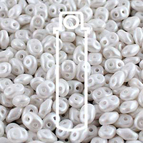 Super Duo 2.5x5mm - DU0502010-24001-TB - Pearl Shine White - 24gm Tube