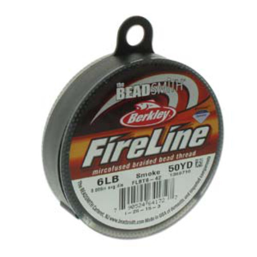 Fireline Braided Bead Thread - 6LB / Size D - 50yd / 45m Roll - Smoke