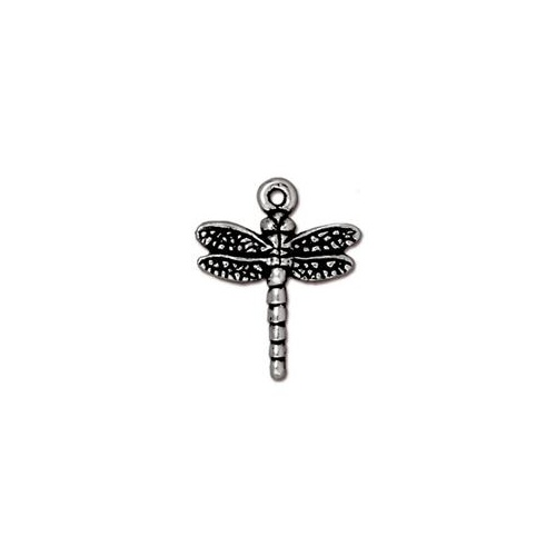 Dragonfly Drop - Antique Silver