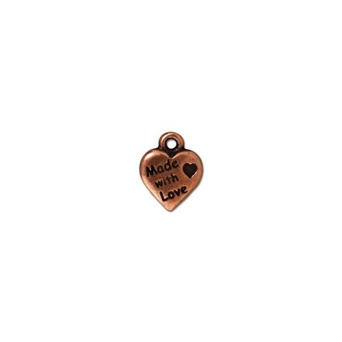 Made with Love Drop - Antique Copper
