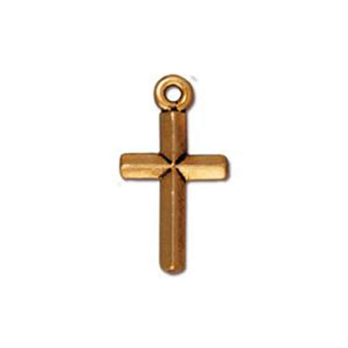 Classic Cross Drop - Antique Gold
