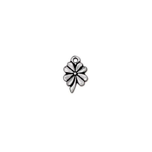 4 Leaf Clover Drop - Antique Silver