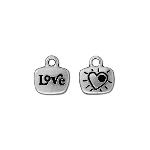 Love Glue In Drop - Antique Silver