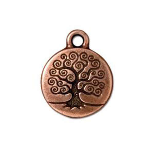 Tree of Life Drop - Antique Copper