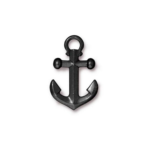 Anchor Pendant Drop - Black