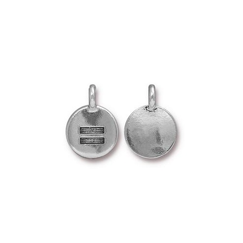 Equality Charm - Antique Silver