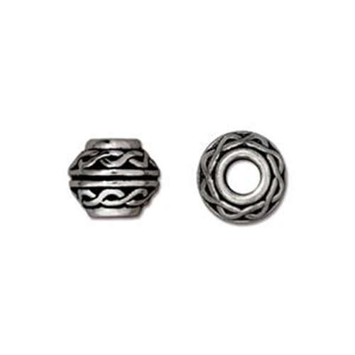 Celtic Large Hole Bead - Antique Silver