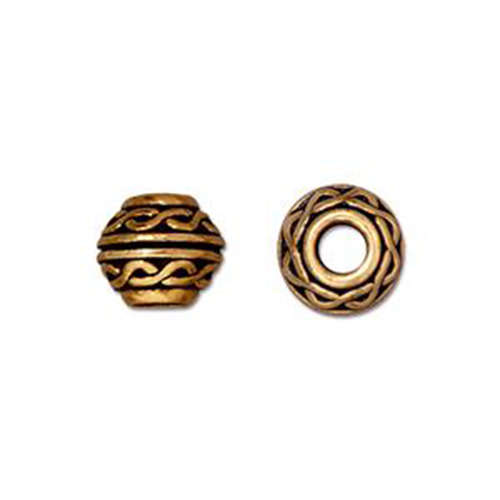 Celtic Large Hole Bead - Antique Gold