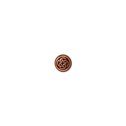 Celtic Circle Small Bead - Antique Copper