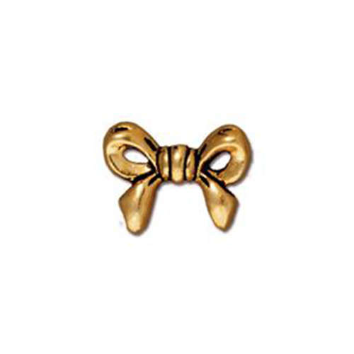 Bow Bead - Antique Gold