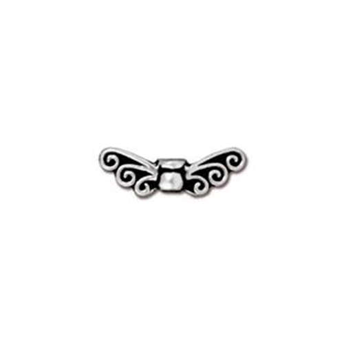 Fairy Wings Bead - Antique Silver