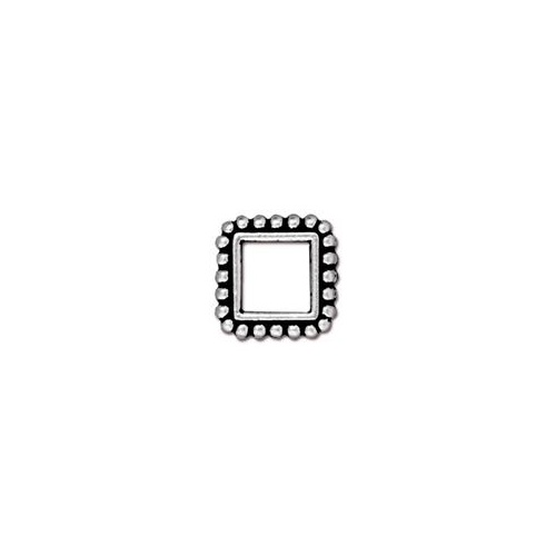 Square 6mm Bead Frame - Antique Silver