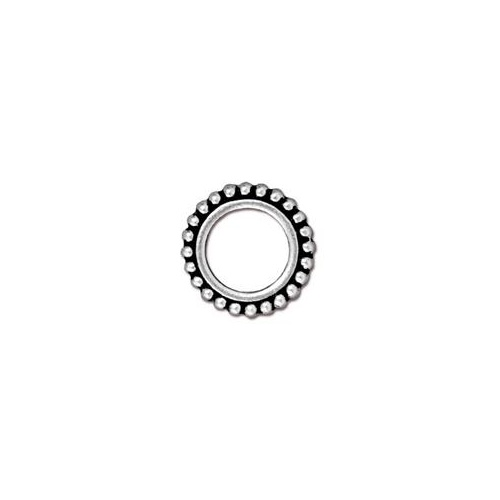 Round 8mm Bead Frame - Antique Silver