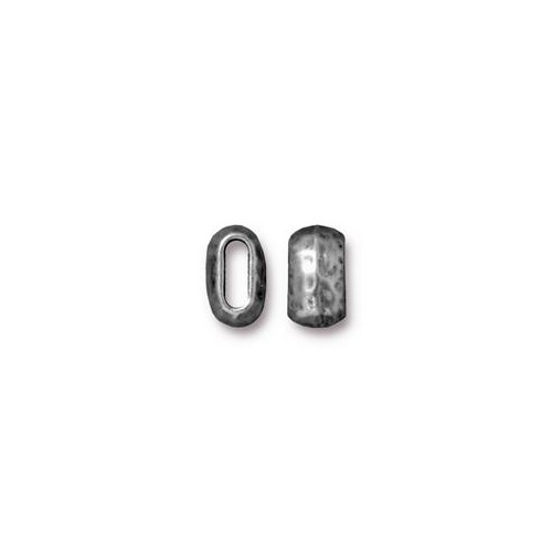 Barrel 6mm x 2mm Bead - Antique Pewter