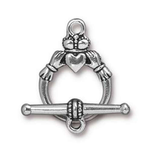 Claddagh Clasp Set - Antique Silver