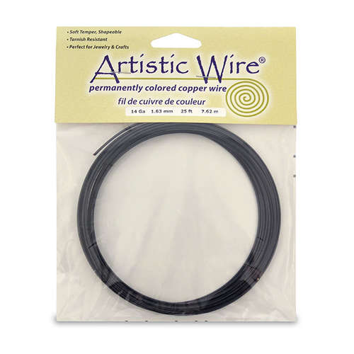 14 Gauge (1.6 mm) - 10 ft (3.1 m) - Black - AWB-14-02-25FT