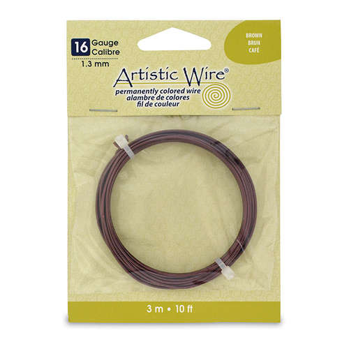 16 Gauge (1.3 mm) - 10 ft (3.1 m) - Brown - AWB-16-05-10FT