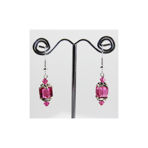 Lantern Earrings - Swarovski® Crystal Rose