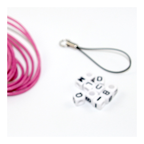 School Bag Name Tag Kit - Hot Pink